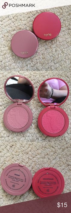 Tarte. Blushes Tarte blushes. One is dazzled. One is natural beauty. Brand new never used. Makeup Blush