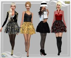 Dreaming 4 Sims: BalletTheir skirt • Sims 4 Downloads
