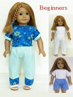 Top and Pants pattern for American Girl doll- for Beginners