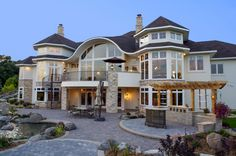 Rich home ill have somedaylol new home designs, house goals, Dream House Exterior, Dream House Plans, Custom Home Designs, Custom Homes, Dream Home Design, My Dream Home, Dream Big, Dream Mansion, Traditional Style Homes