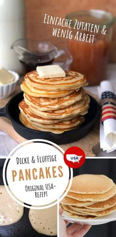 Pancakes Usa, Pancake Healthy, Us Foods, Food Platters, Soul Food, Low Carb Recipes, Food Inspiration, Sweet Recipes, Carne