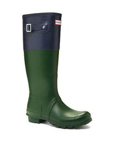 Weatherproof wellies are a festival must-have. // Hunter Original Color Block Tall Boot