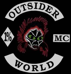 Outsider MC (Motorcycle Club) - One Percenter Bikers Outlaws Motorcycle Club, Motorcycle Logo, Motorcycle Clubs, Bike Gang, Biker Clubs, Biker Patches, Color Club, Nose Art, Cool Bikes