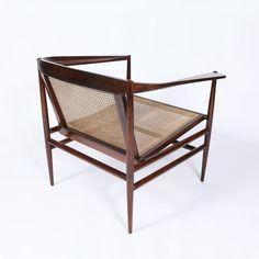 scandinaviancollectors:  Joaquim Tenreiro jacaranda and cain armchair, c. 1960 Brazil. Exhibited by James at Paris Art Design (PAD) / PAD Fa...
