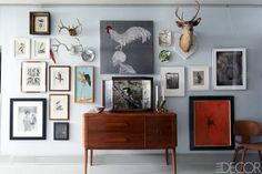 Audubon prints, an embroidery piece by Angelo Filomeno, and photographs by Abranowicz, Victor Schrager, Tom Baril, and George Tice, among others, line the walls of the gallery.