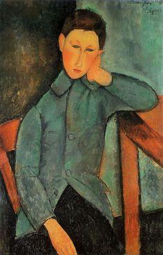 The Boy, 1918 Amedeo Modigliani – wikipaintings.com