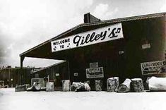 Gilley's was a honky tonk on Spencer Hwy in Pasadena, TX made famous by Urban Cowboy.  It shut down around 1990...I was there several times, back in my younger days!!!