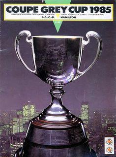 1985 Grey Cup program