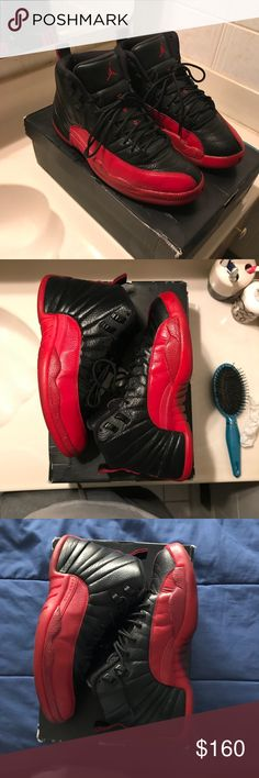 Air jordan flu game 12s Size 9 Condition 8/10 W/ replacement box Jordan Shoes Sneakers