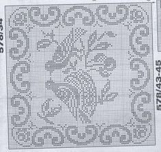 Одноклассники Cross Stitch Bird, Cross Stitch Charts, Cross Stitch Designs, Cross Stitch Patterns, Crochet Birds, Crochet Motif, Crochet Lace, Crochet Patterns, Filet Crochet Charts