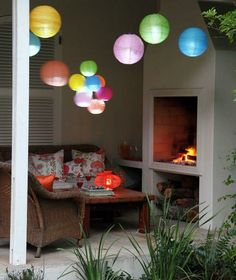 You know those lights you see at outdoor dinner parties on TV? They're globe string lights, elegant round bulbs that give off a warm glow.