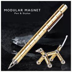2020 Magnetic Polar Pen Metal Magnet Modular Toy Stress Fidgets Antistress Focus Hands Touch Pen Gel Pens For Ages Fidget Pen, Graffiti Writing, Unique Desks, A Perfect Circle, Stem Science, Miniature Figurines, Desk Accessories, Gel Pens, Stylus