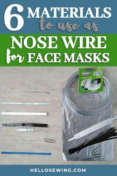 You can improve your face mask seal by adding bendable nose wire to your fabric face mask. You can fit a small metal strip/wire at the top — so that the metal can be molded over the nose and fit individual face shape better. Easy Face Masks, Homemade Face Masks, Diy Face Mask, What To Use, How To Make, Pocket Pattern, Free Pattern, Diy Mask, Face Shapes