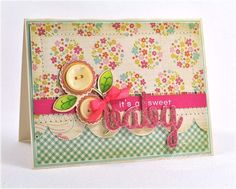 Sweet Baby Card by Debbie Olson for Papertrey Ink (May 2013)