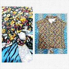 Blusinha florida com detalhe de amarrar. À venda www.corujeets.com #shirt #camiseta #lookoftheday #ootd #outfit