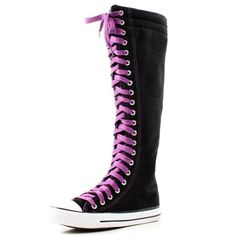 63% Off was $45.99, now is $17.01! West Blvd Womens Sneaker Knee High Lace Up Boots  #WestBlvd