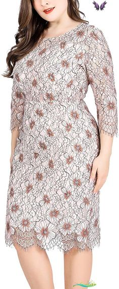 Women's Plus Size Retro Floral Lace Long Sleeve Cocktail Party Wedding Dresses Women's Plus Size Retro Floral Lace Long Sleeve Cocktail Party Wedding Dress. Women's Plus Size Tops Striped Raglan Tee Shirts Casual Tunics Blouses New Curvy And Plus Size Women Outfit For Summer 2020. plus size clothing and all trending fashions for chubby and curvy girls. best outfits for plus size | plus sized fashion | style plus size | plus size outfits | womens fashion plus size | outfits plus size… Plus Size Jeans, Plus Size Tops, Retro Floral, Floral Lace, Night Outfits, Cool Outfits, Clothing Websites, Affordable Clothes, Tunic Blouse