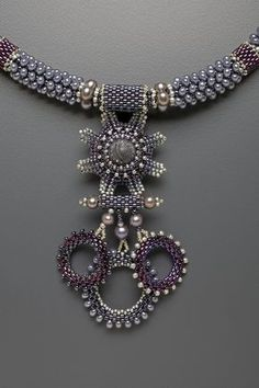 Dragon Claw Necklace Kit, silver & purple by artist Laura McCabe..