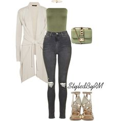 A fashion look from June 2016 featuring Donna Karan cardigans, Topshop jeans and Jimmy Choo sandals. Browse and shop related looks.