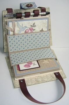 5/5/2010; Angie Leach at 'Too Cool Stamping' blog; Nancy's Purse Gift Set, opened full-view; GREAT tutorial