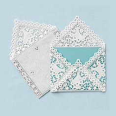 Envelopes Made From Paper Doilies