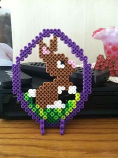 Easter ornament perler beads by icrama