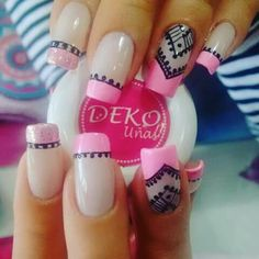 French stamp acrylic nails and make up ideas/hair colors,per Pretty Nail Colors, Pretty Nails, Perfect Nails, Gorgeous Nails, Matte Nails, Acrylic Nails, Hair And Nails, My Nails, Pedicure Nail Art