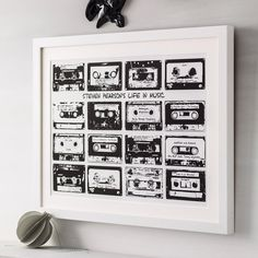 Personalised Playlist Cassette Print | hardtofind.