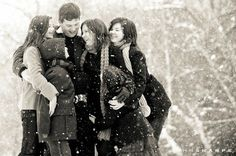 Great family photo in the snow