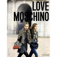 Love Moschino Ad Campaign Fall/Winter 2010 - MyFDB ❤ liked on Polyvore featuring ad campaign and garance doré