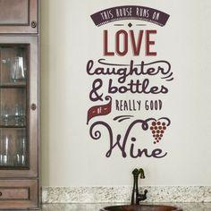 Wine Wall Decal - Medium
