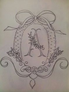 Wonderful Ribbon Embroidery Flowers by Hand Ideas. Enchanting Ribbon Embroidery Flowers by Hand Ideas. Embroidery Alphabet, Embroidery Monogram, Rose Embroidery, Silk Ribbon Embroidery, Vintage Embroidery, Hand Embroidery Patterns Free, Hand Embroidery Stitches, Machine Embroidery, Wreath Drawing