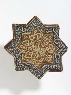 Star-shaped tile, Iran (probably Kashan), ca.1325