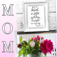 MOM. She is altogether beautiful. She would love this wall print and some pretty flowers.  put in your frame of choice...easy peasy! Shop the wall print collection in the store. DIY printables are fun and you made it with love! ❤️
