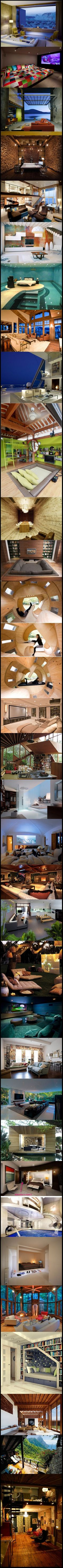 An album of some of the world's craziest rooms