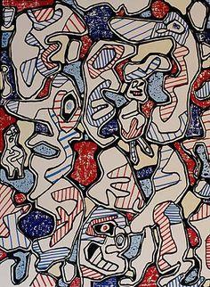 Samedi Tantot - JEAN DUBUFFET - lithograph printed in colors