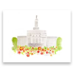 LDS Temple Printout  11 x 8.5 inch  Printable by HollyBrookeJones