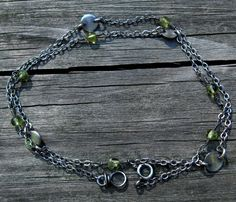 Peridot Necklace ... peridot layering necklace by LisasLovlies