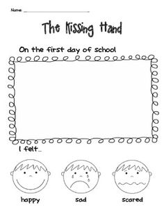 """Kissing Hand Activity Freebie Another """"The Kissing Hand"""" writing/drawing activity for the first day of school.Another """"The Kissing Hand"""" writing/drawing activity for the first day of school. Preschool First Day, Beginning Of Kindergarten, First Day Of School Activities, 1st Day Of School, Beginning Of The School Year, Kindergarten Writing, Literacy, Preschool Books, Kissing Hand Activities"""