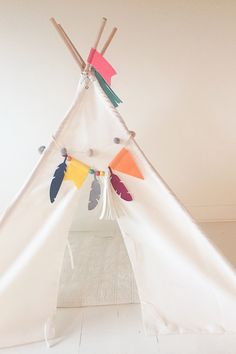 DIY Teepee Kit from We R Memory Keepers and Crate Paper designed by Diy Teepee, Diy Tent, Teepee Kids, Tent Decorations, We R Memory Keepers, Crate Paper, Paper Design, Crates, Diy Crafts