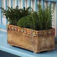 cement or pottery, try both! Ceramic Flower Pots, Ceramic Planters, Ceramic Vase, Slab Pottery, Pottery Bowls, Ceramic Pottery, Clay Wall Art, Pottery Designs, Succulent Pots