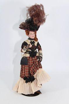 Original Marcia Backstrom Artisan Doll Miniature Dollhouse Victorian Lady