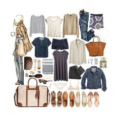 week long trip #01 by coffeestainedcashmere on Polyvore featuring Alexander Yamaguchi, Les Prairies de Paris, Wood Wood, Madewell, Calypso St. Barth, H&M, Zara, A.P.C., J.Crew and Mimi Holliday by Damaris