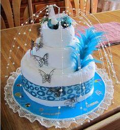 How to Make a Wedding Towel Cake from Thinkwedding.com!