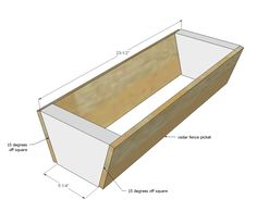 If you want to grow some plants or vegetables in your yard, first you are going to need some good planter boxes. DIY planter box designs, plans, ideas for vegetables and flowers Diy Planter Box, Diy Planters, Garden Planters, Herb Garden, Pallet Planters, Cedar Garden, Ana White, Jardim Vertical Diy, Vertical Garden Diy
