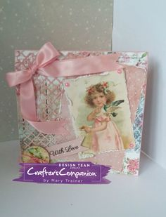 TENT CARD created with SARA SIGNATURE SHABBY CHIC COLLECTION Created by MARY TRAINER @crafterscompanion