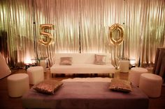 Our glitz pillows in action at a 50th bday party event!