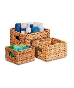This Nesting Banana Leaf Basket Set by Honey-Can-Do is perfect! #zulilyfinds