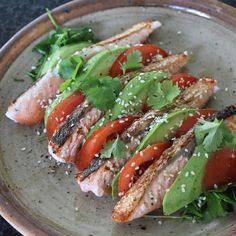 Krokant gebakken zalm met avocado en tomaat uit Puur Genieten 1 #food