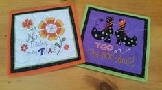 Halloween Mug Rugs Set of 2 Snack Mats Candle by LuluBelleQuilts
